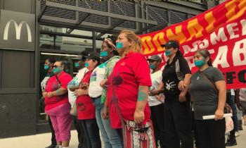 """美 맥도날드 노동자 성폭력 반대 파업...""""나는 메뉴가 아니다"""""""