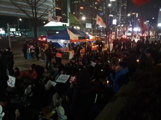 '이재용 석방 규탄' 촛불 집회 열려