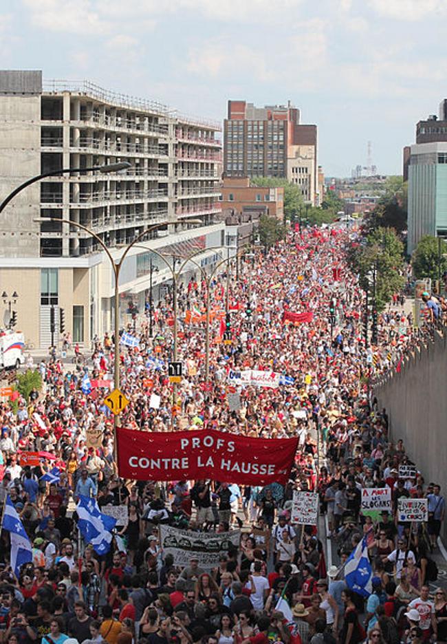 캐나다 퀘벡주 학생운동 승리...신임 집권당, 등록금 인상 철회