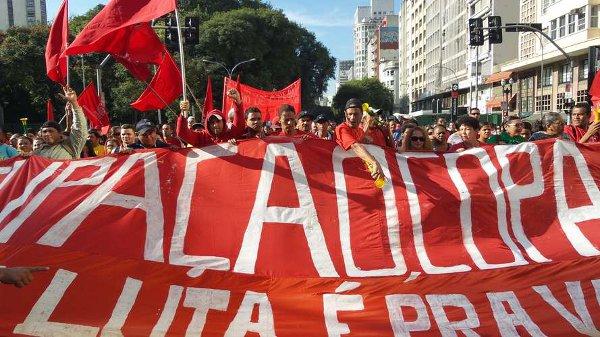 브라질 집없는노동자운동, 상파울루 시청 앞 점거